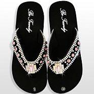 Black Light Pink Cross Flip Flops                  #HW-FF103SC1-HPABM
