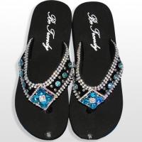 Blue Diamond Flower Flip Flops               #HW-FF103SD2-BLABM