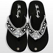 Black Diamond Flower Flip Flops                #HW-FF103SD2