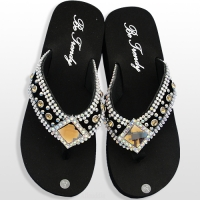 Brown Diamond Flip Flops                     #HW-FF103SDL-BROABM