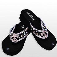 Black Fleur De Li's Flip Flops                #HW-FF103SNFABM