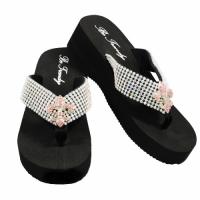 Rhinestone Pink Fleur De Li's Flip Flops             #HW-FF10SSNF-PINK-ABM
