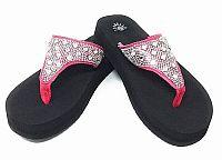 New Isabella Rhinestone Pink Flip Flops   #WLGH-64NEWPINK