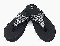 New Isabella Rhinestone Black Flip Flops   #WLGH-NEW64BLACK