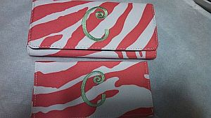 Monogram C Pink Zebra Wallet    #CPinkZebra