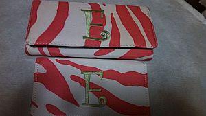 Monogram E Pink Zebra Wallet   #EWallet