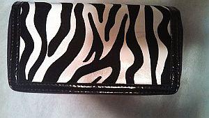 Black & White Zebra Wallet    #BlkZebraWallet