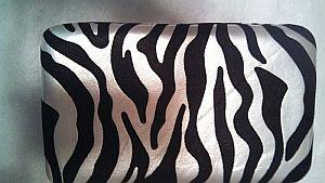Large Silver Satin Zebra Wallet   #SilverZebra