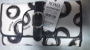 Black XOXO Heart Wallet   #XOXO