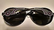 Purple Rhinestone Sunglasses             #PurpleR