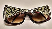Gray Zebra Sunglasses                        #Silver