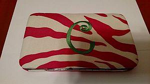 Monogram C Large Clasp Pink Zebra Wallet   #PinkClasp