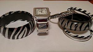 Black & Silver Zebra Print Jewelry    #ZebraJewelry