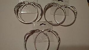 Large Rhinestone Hoop Earrings   #hoop