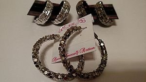 Metallic Hoop Earrings    #Miscearrings
