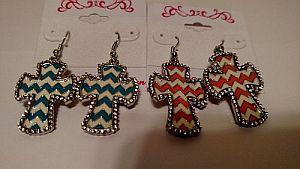 Chevron Cross Earrings   #crosschevron