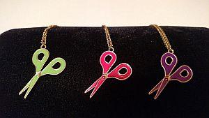 Gold Colored Scissor Necklaces  #scissornecklace