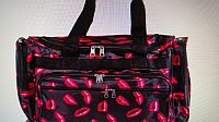 Black Pink Lip 19 Inch Duffle Bag   #D-dufflelip