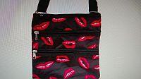 Black Pink Lip Messenger Bag   #D-mesbag