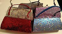 One or More Six Inch Sequin Sparkle Mini Purses           #CF80IW2