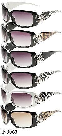 Rhinestone Fleur De Li's Leopard Sunglasses             #fleurdelis