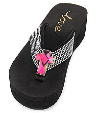 New Rhinestone Pink Cross Flip Flops   #LOVE10