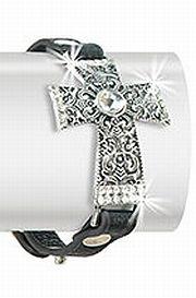 Large Rhinestone Cross Bracelet    #HE-JL-1100-CE