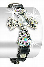 Large Rhinestone Cross Bracelet      #HE-JL-1155-ML
