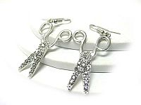 Crystal Scissor Earrings