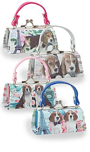 One Dozen Mini Purses Beagle Design HEX-2809