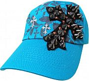 Turquoise Studded Cross Bling Hat