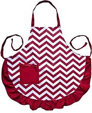 Dark Red Burgundy Chevron Apron           #LA-AP1200S-BUR