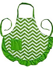 Green Chevron Design Apron              #LA-AP1200S-GRN