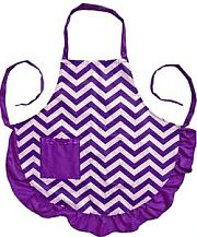 Purple Chevron Design Apron            #LA-AP1200S-PUR