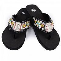 Isabella Yellow Red Aztec Baseball Flip Flops     #LGH-S085