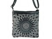 Black Rhinestone Messenger Bag                #LGH-111-5BK