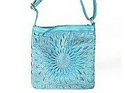 Turquoise Rhinestone Messenger Bag         #LGH-111-5BL