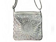 Silver Gray Rhinestone Messenger Bag        #LGH-111-5GY