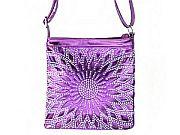 Purple Rhinestone Messenger Bag             #LGH-111-5PP