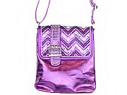 Purple Chevron Rhinestone Belt Messenger Bag       #LGH-8470PP