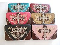 Rhinestone Western Cross Wallets                #LGH-RM-3356