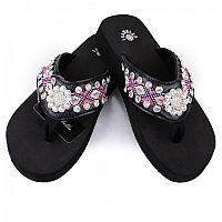 Isabella Pink Aztec Flower Flip Flops         #LGH-S066PNK