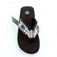 Isabella Blue Aztec Cross Wings Flip Flops       #LGH-S078