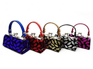 One Dozen Fall Leaves Mini Purses  #LQ97