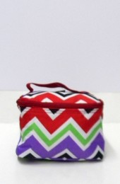 Multi Colored Chevron Cosmetic Bag             #LU-008-CV-MUL