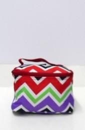 Multi Colored Chevron Cosmetic Bag             #LU-008-CV-MUL