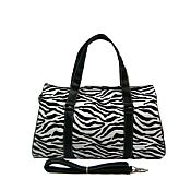 Black & White Zebra Duffel Bag