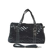 Black & Silver Zebra Duffel Bag