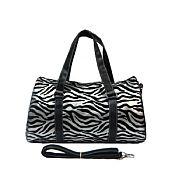 Silver Zebra Duffel Bag