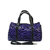 Purple Zebra Duffel Bag